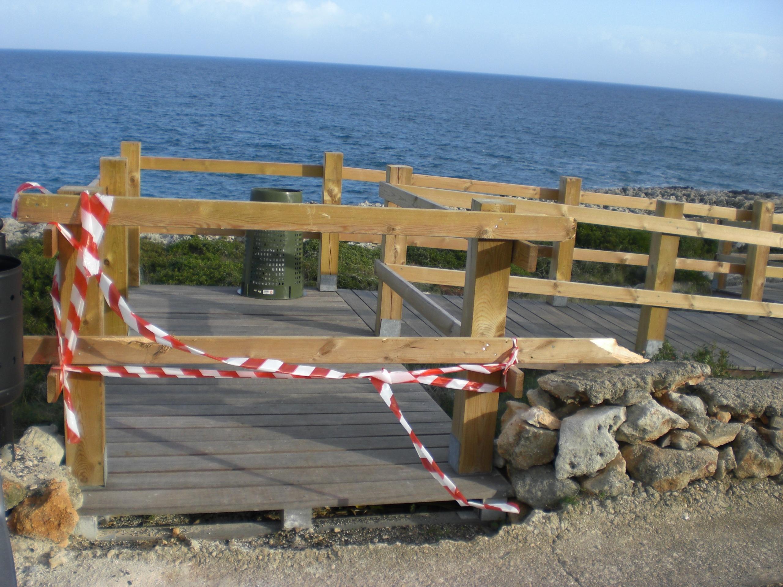 Accesso vietato - passerella Funnuvojere