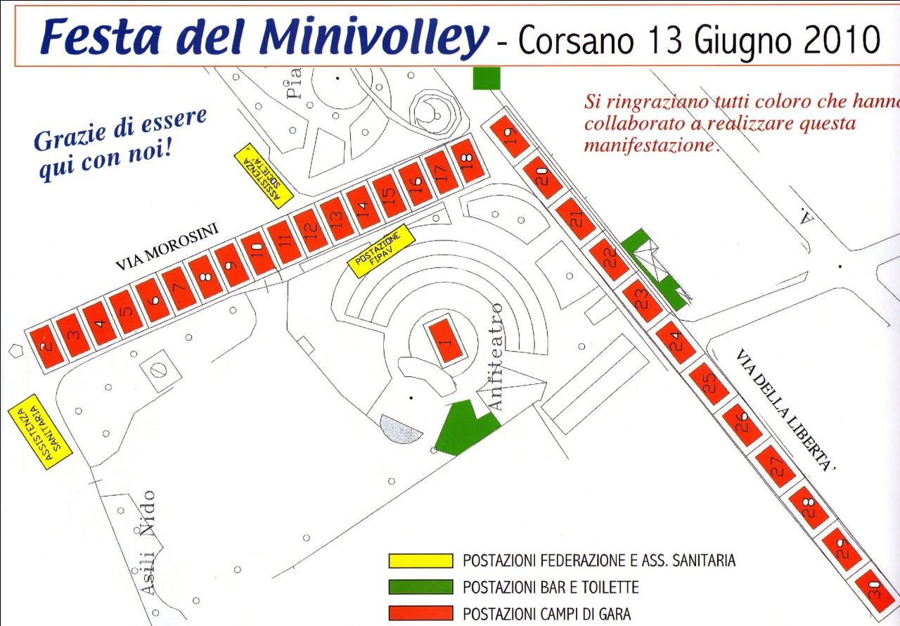 mappa minivolley
